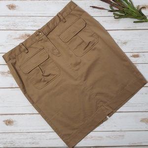 Old Navy Tan Stretch Utility Skirt sz 12